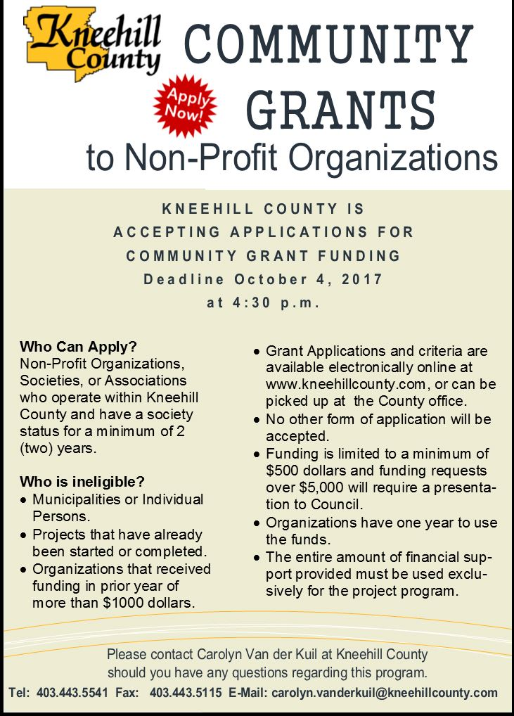 community grants advertisment ad 2017 Round 2