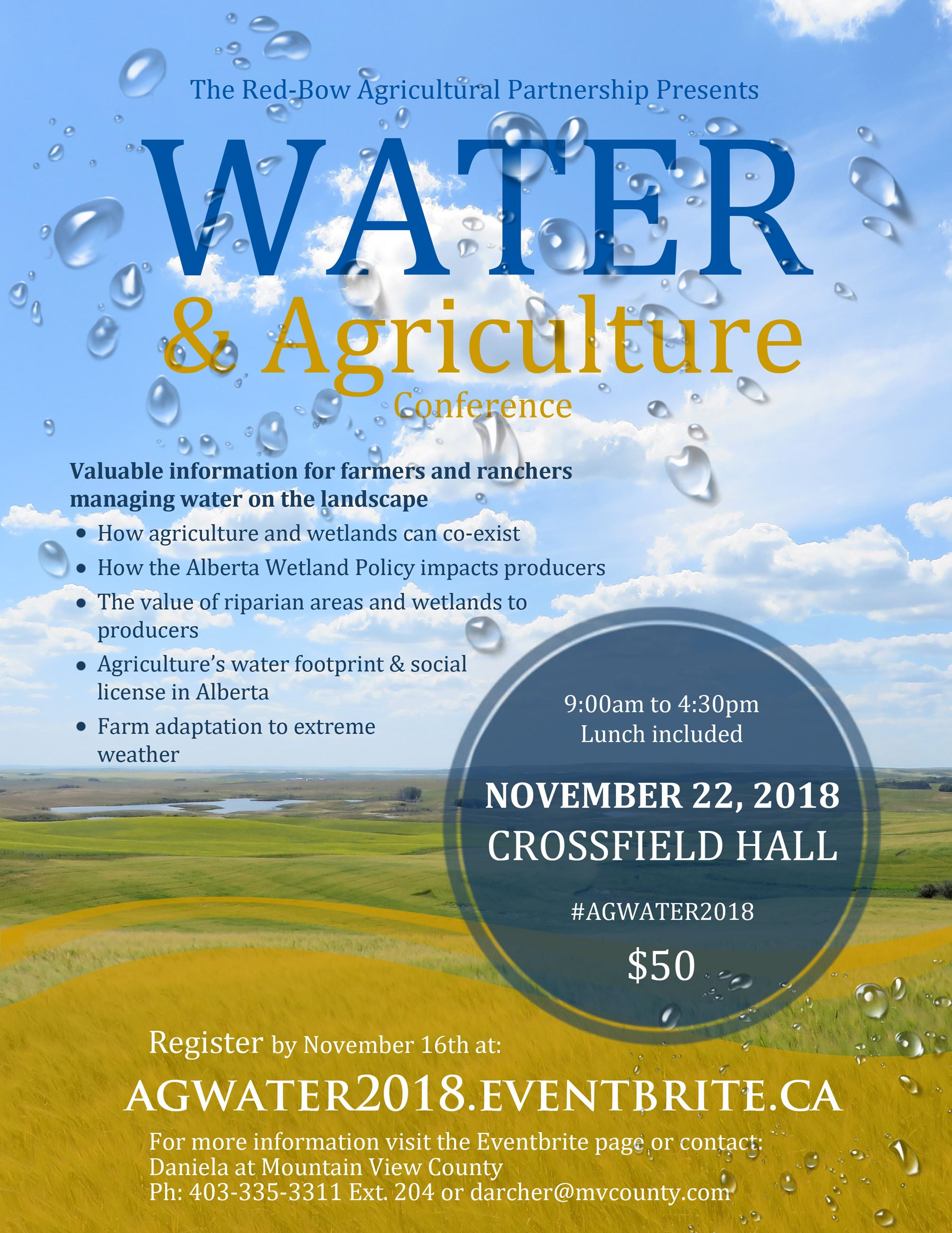 Water and Agriculture Poster
