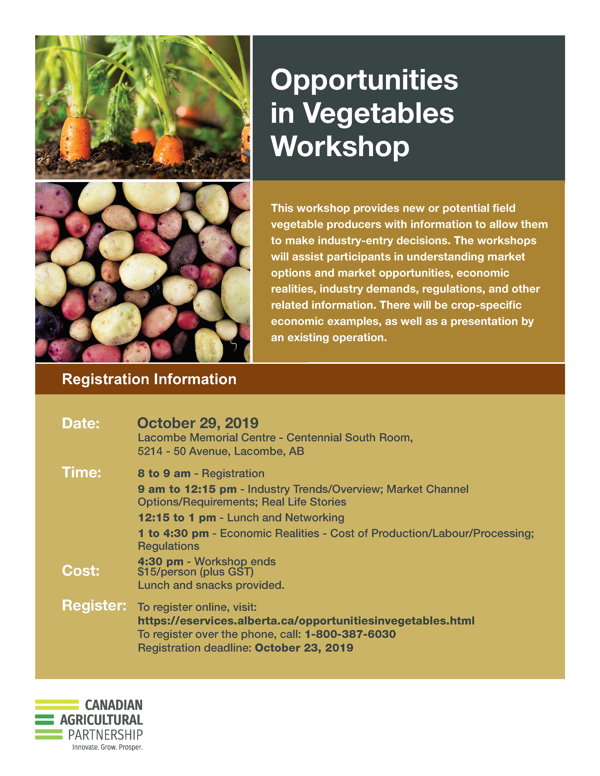 2019 CAP Opportunities Vegetables Workshop B