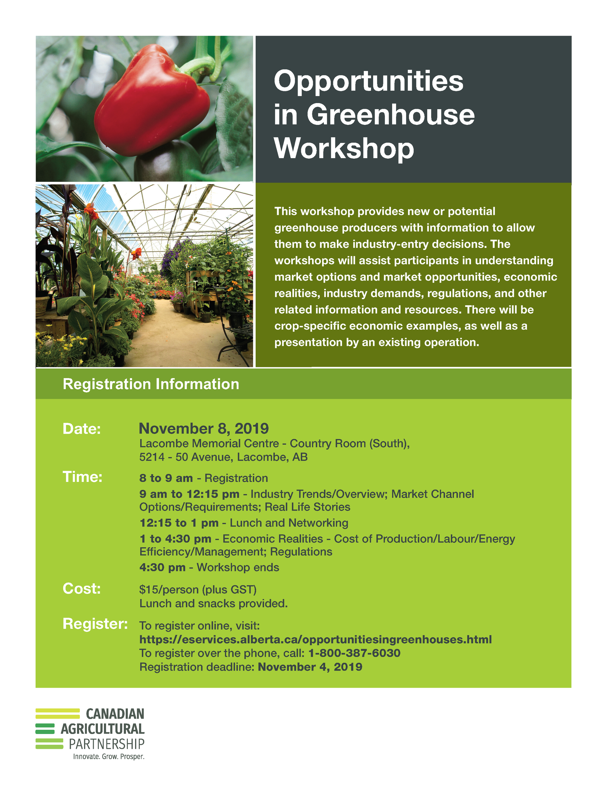 2019 CAP Opportunities Greenhouse Workshop B