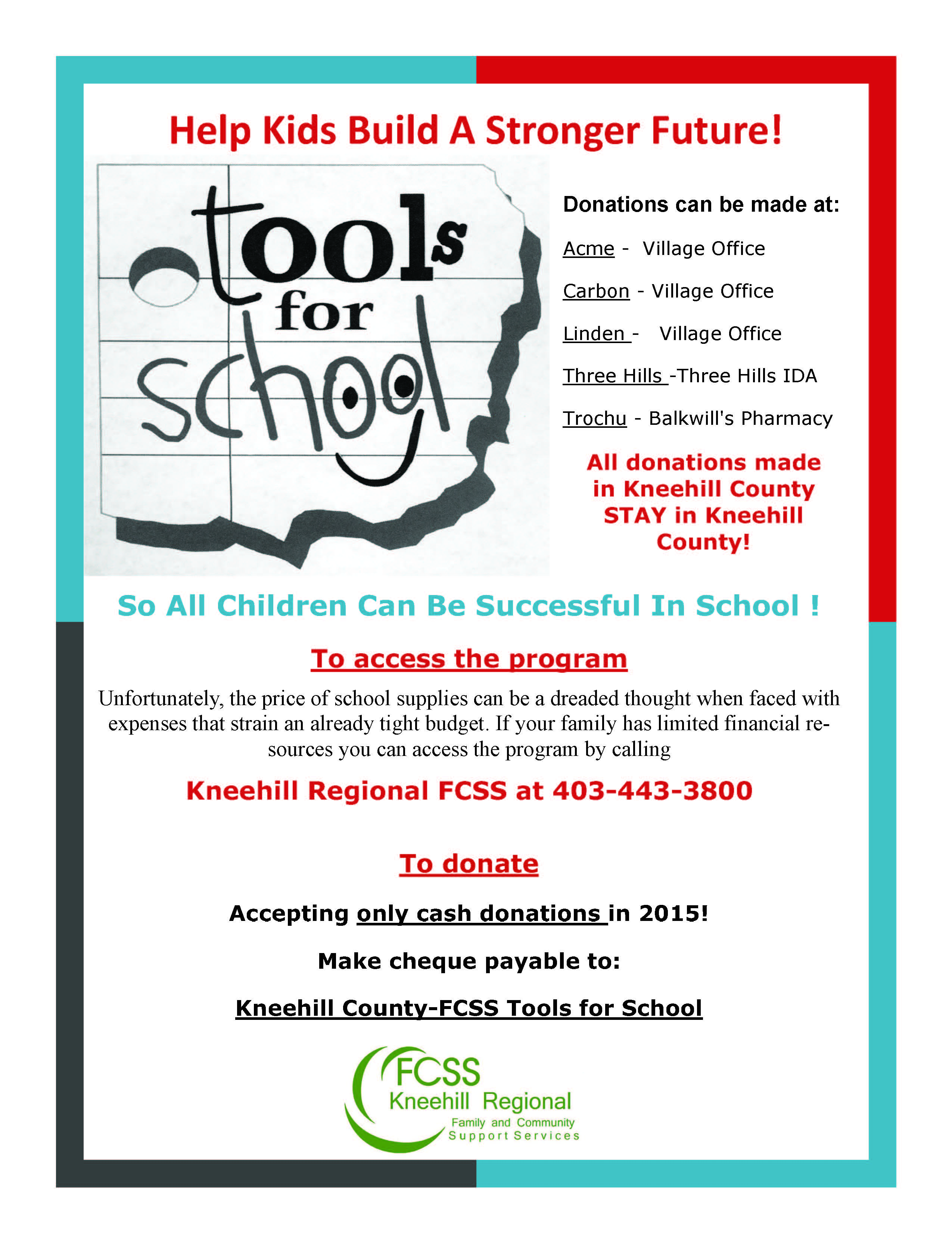 tools for school poster