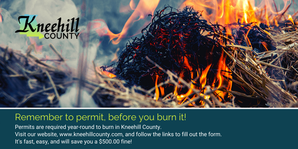 Burn Permits are required all year long Opens in new window